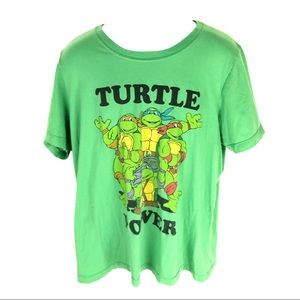 TMNT Men's Green T-Shirt L